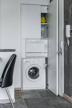 clever storage ideas - European laundry
